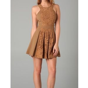 Tibi Lace Camel Dress